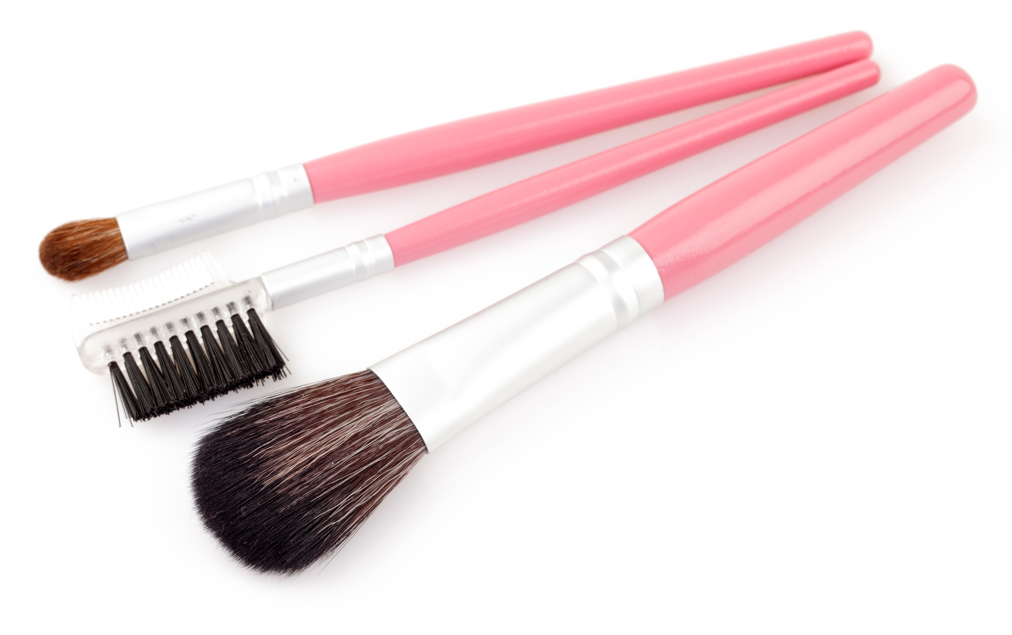 cosmetic brush isolated on a white background